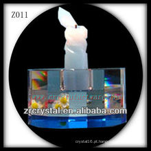 Suporte de vela de cristal popular Z011