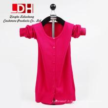 Automne Hiver Femme Nouveau O-Neck Knit Shirt Mince Coréenne Courte Pull Femmes Robe Cardigan Cachemire