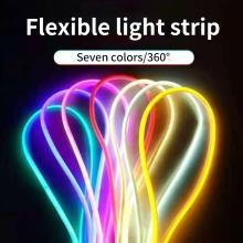 Shaped flexible light strip