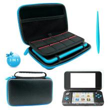Pour NINTEND Switch 2DS XL Nintendo 2DSXL LL Film de Protection d'Écran avec Stylet Tactile et Stockage Dur EVA Sac Étui Protection Pochette