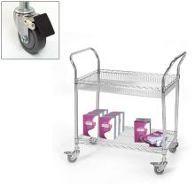 Library Removable Metal Storage Cart Rack for Book (BK753590A2CW)