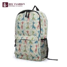 Korean Style Custom Logo Canvas Material Cute Backpack For Girls
