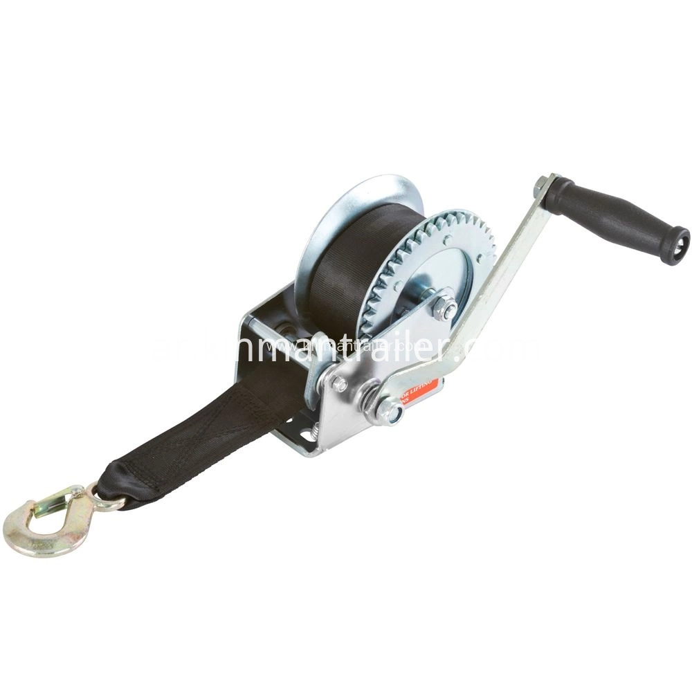 boat winch with strap
