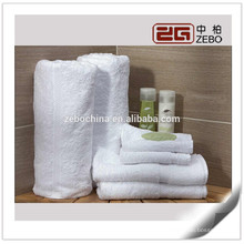 100% Cotton Washable Good Quality 32s White Luxury Hotel Towels Wholesale