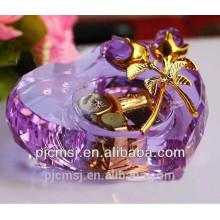 Instrumentos musicais de cristal em forma de coração para o presente de casamento favores CM-001
