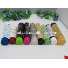Cosmetic packaging tube with three layers cap