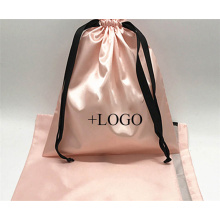 Printed Draw String Gift Bags Jewelry Storage Pouch Wedding Candy Organizer Personalized Silk Satin Drawstring Dust Bag