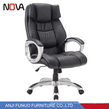 High back leather manager boss office chair with locking wheels