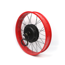1000W  48V Fat Tire Geared Brushless Hub Motor Electric Bicycle Conversion Kits with optional display
