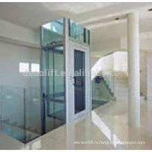 Хороший лифт в вилле с защитным стеклом