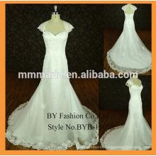 saudi arabian wedding dress cap sleeves lace trim bridal wedding party dress