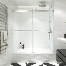 Seawin Bathroom  Partition Tempered Glass Frameless Cubicle bypass sliding Shower Doors