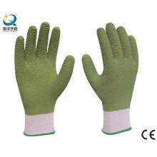 13G полиэстеровая оболочка, латексные полные рабочие перчатки, волновая отделка