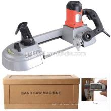 680w Geschwindigkeit Variable Metall / Stahl / Holz Schneiden Portable Mini-Band Säge Maschine Preis