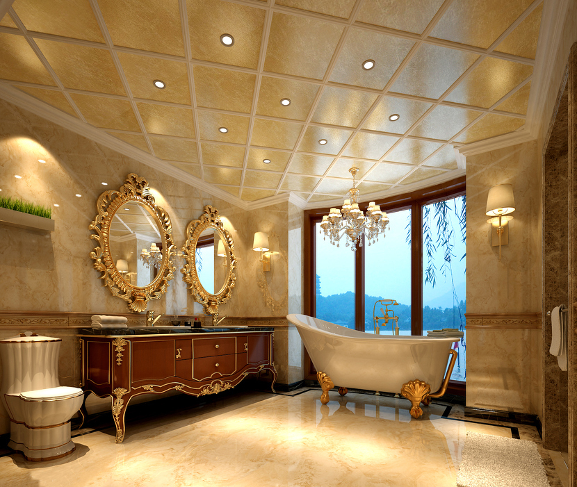 PVC marble ceiling