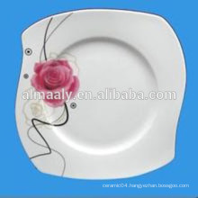 stock plates, unique shape porcelain plates