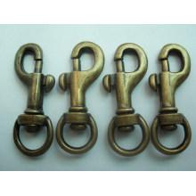 Factory price custom metal Brass snap hook/ dog leash snap hook
