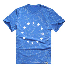 Usine OEM Hommes Impression T-Shirts Coton 2017 Col Rond T-Shirts