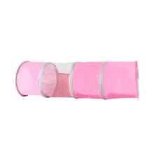 Brinquedo interativo rosa do jogo exterior do treinamento para o túnel original do animal de estimação do gato