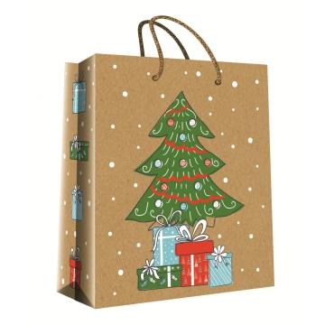CHRISTMAS SERIES KRAFT GIFTBAG16-0