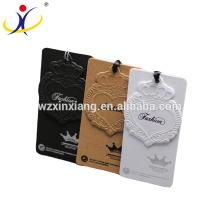 Le carton de prix d'usine de haute qualité étiquette le vêtement étiquette de coup accrochage de papier d'étiquette de balise