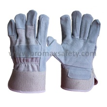 Reinforced Palm Cow Split Rogger Glove with Rubberized Cuff