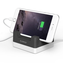 ORICO CHA-4U Cargador USB de escritorio de 4 puertos con soporte para teléfono / tableta