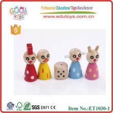 Animal Flying Game Wooden Chess Toys