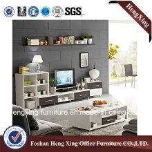 Modern Living Room Furniture White Melamine TV Stand (HX-6M313)