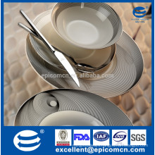 super white porselen yemek tableware set for 6 kisilik with magic metalic decoration