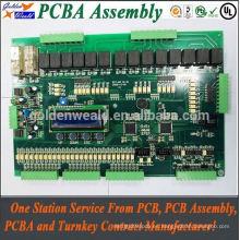 pcba power pcba 4 layer inmersion gold pcb assembly with Green Máscara de soldadura y persiana y enterrada a través del ensamblaje de la pcb del motor