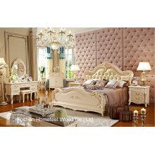 Mobilier classique de chambre à coucher en bois (HF-MG816)