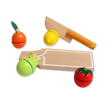 Wooden Fruit Cut and Play Toy Set for Kids and Children