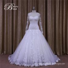 Custom Made Long Sleeves Sweetheart Ball Bride Dress