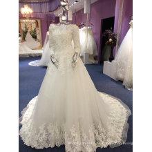 Una línea / princesa de manga completa de alta calidad ODM vestido de novia