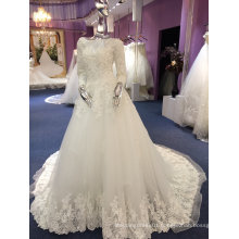 A Line/Princess Full Sleeve High Quality ODM Wedding Dress