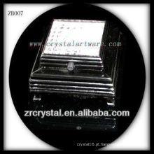 Base de luz LED de plástico preto para cristal