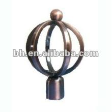 new design antique brass curtain rod ball finials