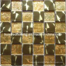Gold Metal Mix Glass Mosaic Tile (SM201)