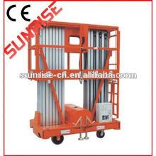 Preço de fábrica rebocável boom lift plataforma de trabalho aéreo telescópico boom de elevador