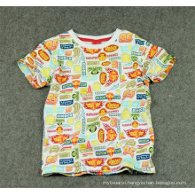 2015 hot selling summer cheap children clothing t shirt cotton shirt for kids new style fashion boy's shirt with printing