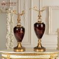 2017 New Design decorative retro glass vase for home decor