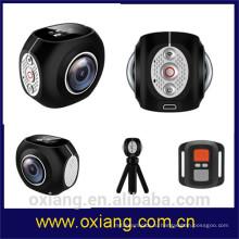 Дешевые 360 градусов мини HD Спорт цифровой видео камеры Водонепроницаемый беспроводной действий камеры