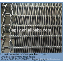 Size customized food processing metal wire mesh weave conveyor mesh belt
