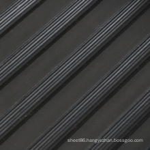 Black Ribbed Anti-Slip Rubber Mat