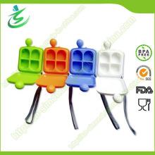 Пластиковый квадратный мини-стол для пилюль с 4 отсеками, колокольчик