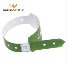 NFC RFID Paper Wristbands 13.56Mhz untuk Hospital
