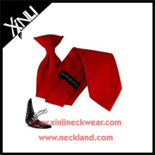 Polyester Woven Boys Großhandel Günstige Schule Krawatten Clips für Clip auf Krawatten