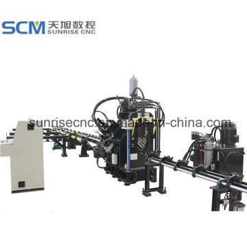 Máquina de corte y marcado de punzonado en ángulo CNC