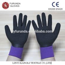 Gants en latex peints en latex en polyester, gants de latex à 13 jauges